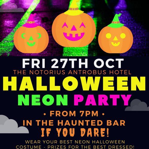 Fri 27th Oct: Halloween Neon Party