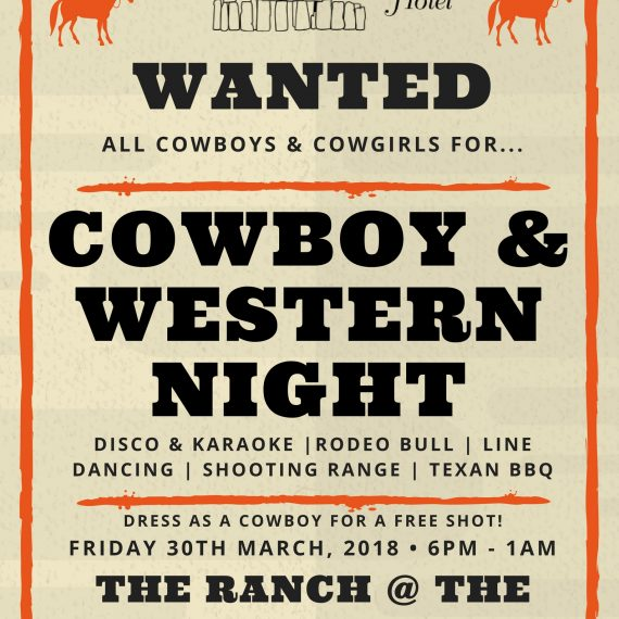 Fri 30th Mar: Cowboy & Western Night!