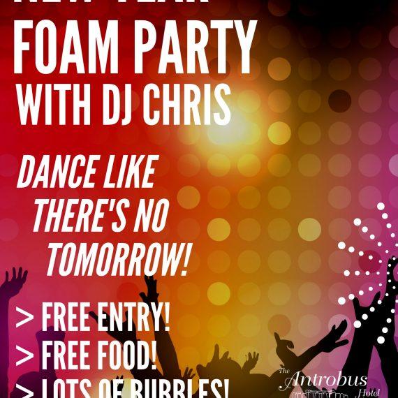 Sat 31st Dec: NYE Foam Party!