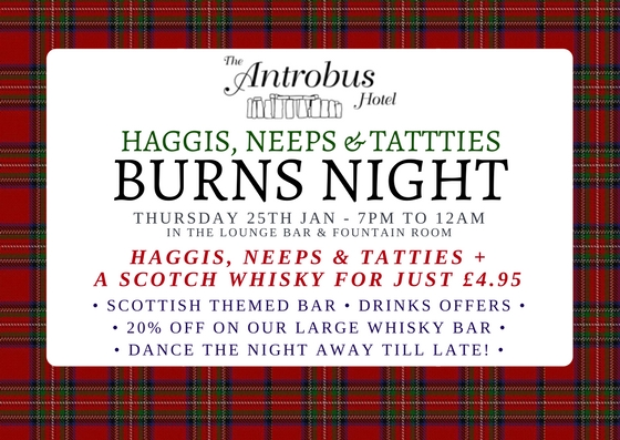 Thurs 25th Jan: Burns Night!